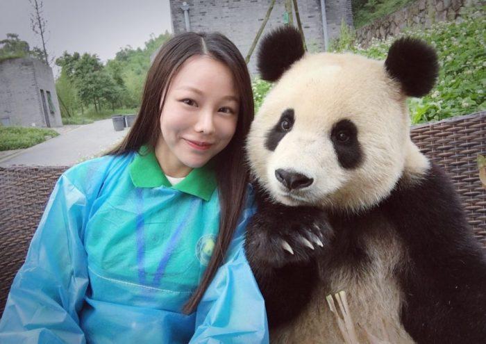 Эта огромная панда овладела мастерством селфи