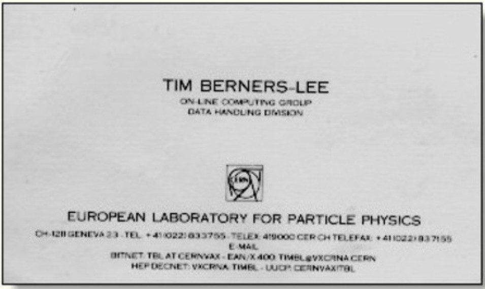 Визитка Тима Бернерса-Ли