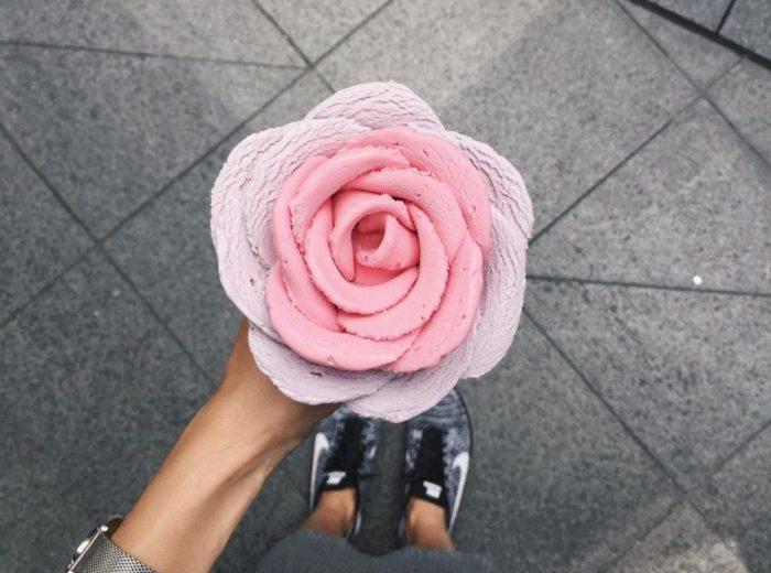 В Сиднее делают мороженое в виде цветка — это просто шедевр!