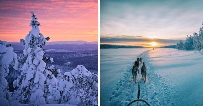 Зимнее путешествие по Финляндии — вот как должна выглядеть настоящая зима!