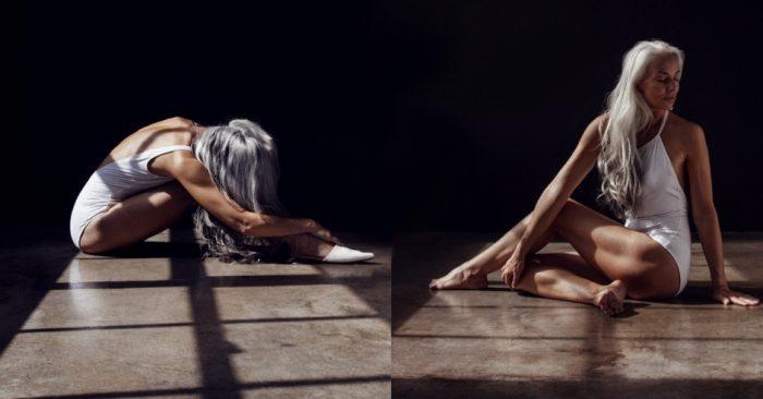 61-летняя модель приняла участие в рекламной кампании линейки купальников