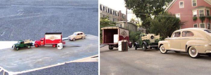 Масштабные модели автомобилей в проекте Elgin Park Майкла Пола Смита