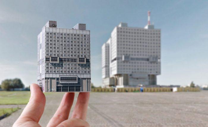 Брутальный шарм архитектуры СССР, реалистичные копии зданий из бумаги