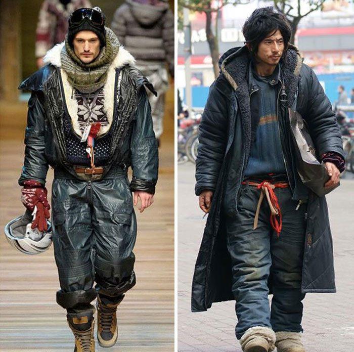 Модель высокой моды или бездомный