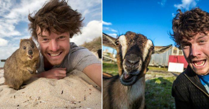 Парень по прозвищу «Заклинатель животных» — делает невероятные селфи с животными