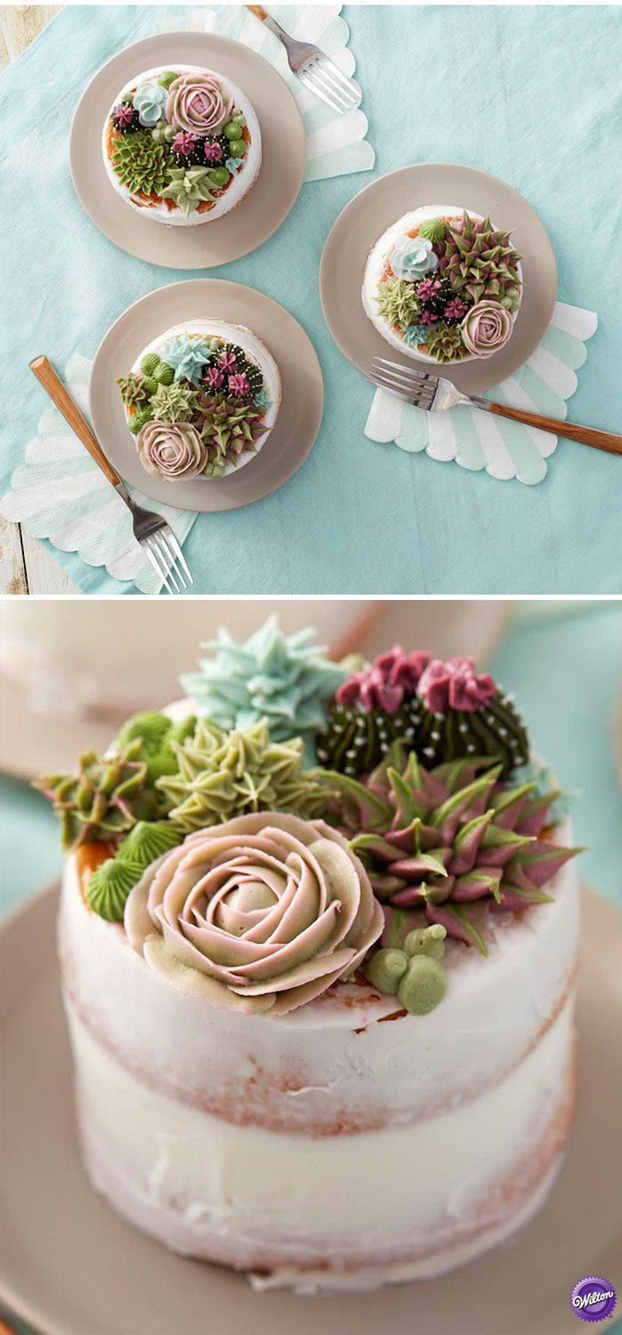красивый торт цветы