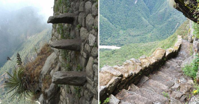 Лестница Смерти в Мачу-Пикчу