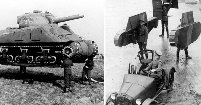 Надувные, картонные и брезентовые танки 1918-1954 годов — креативные хитрости военного времени